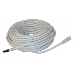 Ftp network cable, shielded rj45, cat 5e (100mbps), 20m