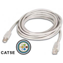 Ftp network cable, shielded rj45, cat 5e (100mbps), 2m cross connection