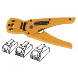 Crimping tool for modular connectors 4p4c, 6p4c, 8p6c (rj11, rj12, rj45)