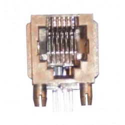 Embase modulaire rj11 femelle pour circuit imprimé 6 plots 4 contacts