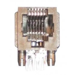 Embase modulaire rj12 femelle co6p6c pour circuit imprimé 6 plots 6 contacts