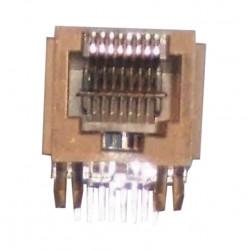 Embase modulaire rj45 femelle pour circuit imprimé 8 plots 8 contacts