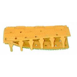 Spazzola a brosse a picots jaune pour sweepy m3 (pièce) deux robotb sont nécessaire par robot