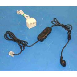 Recepteur telephonique mains libres avec oreillette telephone main libre miniature st 1000