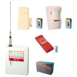 Kit allarme senza fio 1 zona 27.120mhz ae sirio 2001 sistema allarme senza filo casa negozio deposito