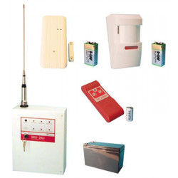Pack alarme sans fil 1 zone 27.120mhz ae/sirio 2001maison magasin habitation villa industrie packs