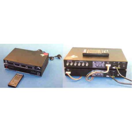 Conjunto de control de video por 4 camaras con telemando (selector 4 canales +panel de