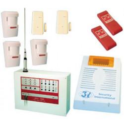 Kit central alarma inlambrica 8 zonas 27.12mhz sirio 2008 alarma antirrobo electronica