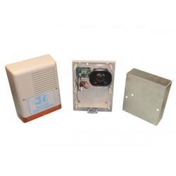 Sirena elettronica esterna autoalimentata 130db 12vcc 15w + flash sir 270m