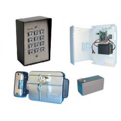 Kit controllo accesso autonomo tastiera stagna a codice serratura elettrica per porta scrivania casa ecc.