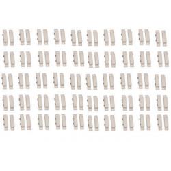 50x detector apertura magnetico contacto nf saledizo adesivo blanco detectores de apertura alarma