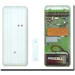 Detecteur ouverture magnetique alarme radio hf 30/100m 27.12mhz ae/sw tx2 detecteurs alarmes
