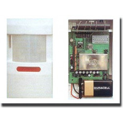 Detecteur infrarouge sans fil 30/100m 27.12mhz pour centrale alarme sans fil s1, s2 s5 s8 s16