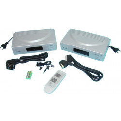 Picture transmitter stereo one tv to another tv without cable with remote control included aerial