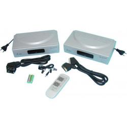 Transmisor imagen estereo de un televisor hacia otro televisor inalambrico mando a distancia antena integrada