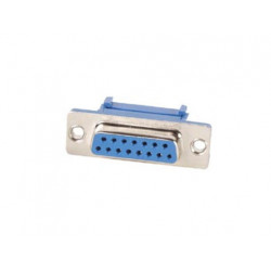 15 pin subd connector for flatcable, female