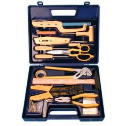 Coffret a outils boite outillage a main portatif t005 pince coupante marteau ciseau multiprise