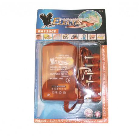 alimentatore elettrico stabilizzato 220vca 12vcc 1200ma 90v 95v 100v