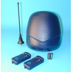 Pack 2 telecommandes radio 2 canaux t2f 1 recepteur rb2f 1 antenne 433mhz 433a emetteur automatisme