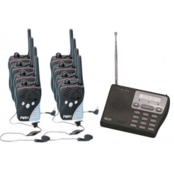 Pack paging system 8 transmitters receivers 446mhz talkie walkie transmitters receivers