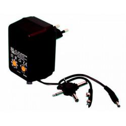 Adaptador electrico con clavija 220vca 3 12vcc 500ma clajijas enchufes sistemas electronico conector alarma