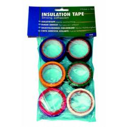 Cinta isolante (lote de 6 rodillos scoth de 5m) cintas isolantes (lote de 6 rodillos scoth de 5m) cinta isolante (lote de 6 rodi