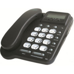 Telefono centralino cablato ascolto a mani libere amplifica no. 20 (auricolare opzionale) memoria dell'amplificatore