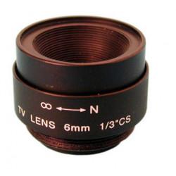 Objetivo camara 6mm sin diafragma accesorios video vigilancia objetivos camaras video