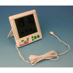 Thermometer fur innen und 50 +70°c außenbereich thermometer mit sonde + uhr elektronik digitalthermometer digitalthermometer