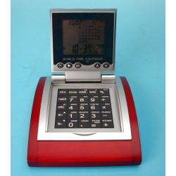 Calculadora worldtime alarma convertidor euro con soporte madera calculadoras worldtime alarmas calculadora