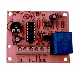 Module electronique temporisation retarde alarme electronique 12vcc 0 à 3mn modules retardateurs