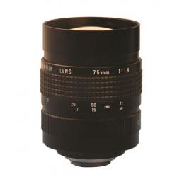 Objectivo de camara 75mm con diafragma accesorios video vigilancia objectivos camaras video