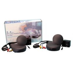 Emisor receptor audio video 2.4ghz 4 canales avmod7 transmision audio video sin hilo emisores