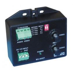 Recepteur longue distance 1500m 2 fils entre emetteur et recepteur decodeur video audio reception