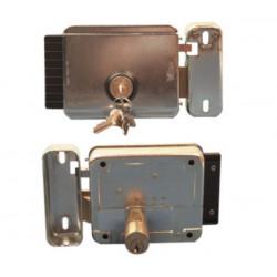 Cerradura electrica apertura a la derecha salezido 12vca reglable de 50 hasta 80mm