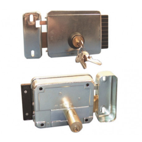 Serrure Verrou Electrique Ouverture Gauche Saillie 12vca Reglable 50