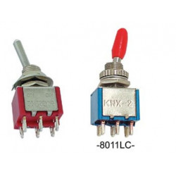 Vertical toggle switch dpdt on on
