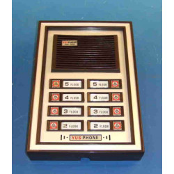 Interphone electronique de rue 8 boutons pour portier phonique immeuble (alpp 8xcpp à rajouter)