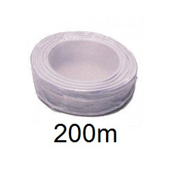Cable 4x0,22 2x0,5 souple blinde blanc ø4.5mm (200m) fil 4x0,22 2x0,75 ecran cablage telephone