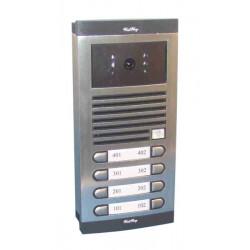 Interphone video electronique code noir et blanc de rue 8bp interphones de rue n/b pour immeubles