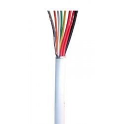 Cable 6x0.22 2x0.5 souple blinde blanc ø6mm (le mètre) fil 6x0,22 2x0,5 avec ecran cablage alarme