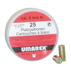 Caja de 25 cartuchos 380 8mm umarex balas a blanco para revolver arma de defensa seguridad personal balas a blanco