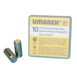 Boite 10 cartouches 8mm gaz cs pour revolver colt45 arme defense securite arme