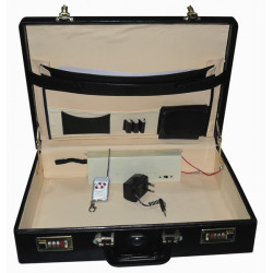 Attache case electrifie 100 000v mallette electrique transport fond alarme sirene alarme120db