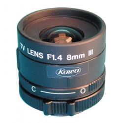 Objectivo de camara 8mm 2 3'' f1.4 con diafragma lm8jcr accesoirios video vigilancia objectivos