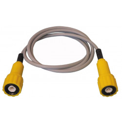 Cable bnc male / bnc male 75 ohm 1 meter yellow