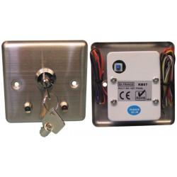 Boitier interrupteur commutateur commande serrure a 2 clefs marche arret coffret metal