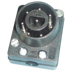 Plug male connector 8 contacts 250vac 6a