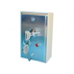 Boitier autoprotege serrure 2 clef marche arret haa80 12v interrupteur commutateur coffret metal