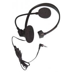 1 cuffia microfono auricolare con cavo per telefono centralino tel20c